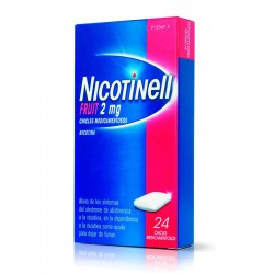 NOVARTIS Nicotinell Fruit 2mg 24 Chicles Medicamentosos