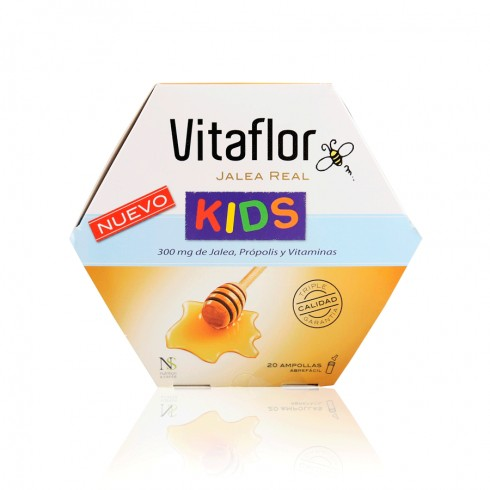 VITAFLOR Jalea Real Kids 10 ml sabor Fresa 20 Ampollas
