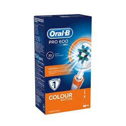 ORAL B Cepillo Electrónico PRO 600 Crossaction color Naranja