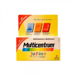 MULTICENTRUM Junior sabor Frambuesa 30 Comprimidos