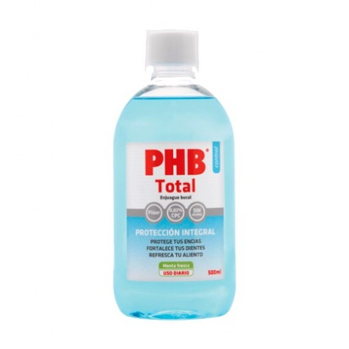 PHB TOTAL ENJUAGUE BUCAL 1 ENVASE 300 ml + 1 ENVASE 200 ml