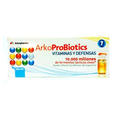 ARKOPROBIOTICS VIT Y DEFENSAS ADULTOS 7 UNIDOSIS W