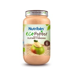 NUTRIBEN ECO SELECCION PLATANO Y MANZANA POTITO JUNIOR 200 G W