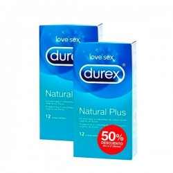 DUREX Love Sex Preservativos Natural Plus 12 ud + 2ª ud al 50% dto