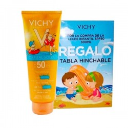 VICHY Capital Soleil Leche Infantil SPF50+ 300 ml + REGALO Tabla Hinchable