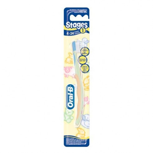 CEPILLO DENTAL INFANTIL ORAL-B STAGES 1 4 MESES - 2 AÑOS - Farmacia ... 1a91acfebed2