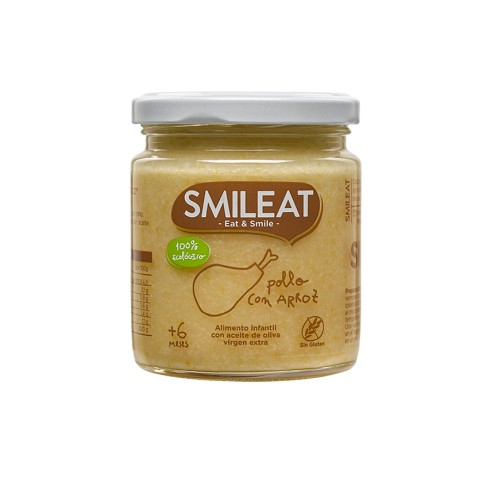 SMILEAT POLLO CON ARROZ 230 GR